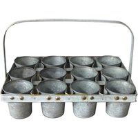 Lavender 12 Piece Metal Plant Pot Set