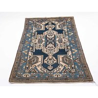 Shirvan Hand Knotted Wool Blue Rug