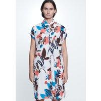 Ärmelloses Krepp Midi Kleid aus 100 Viskose