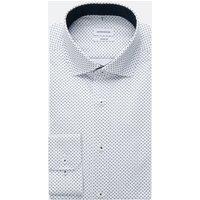 Bügelleichtes Twill Business Hemd in Comfort mit Kentkragen