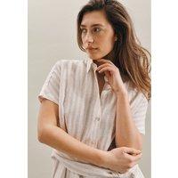 Ärmelloses Leinen Midi Kleid aus 100 Leinen