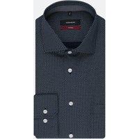 Bügelleichtes Popeline Business Hemd in Regular mit Kentkragen und extra langem Arm