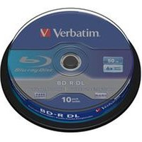 Verbatim 50GB Blu-Ray BD-R DL (6x) 10 Pack Spindle.