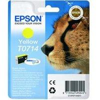 Epson T0714 DuraBrite Ultra Ink - Print cartridge - 1 x yellow.