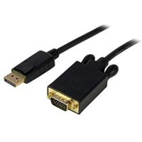 StarTech.com 15 ft DisplayPort to VGA Adapter Converter Cable – DP to VGA 1920x1200 - Black.