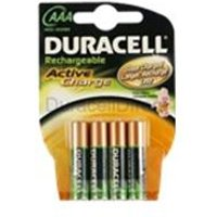 Duracell StayCharged AAA 4 Pack.