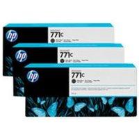 HP 771C 3-pack 775-ml Matte Black Designjet Ink Cartridges.