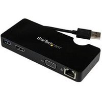 StarTech.com Universal USB 3.0 Laptop Mini Docking Station w/ HDMI or VGA Gigabit Ethernet USB 3.0