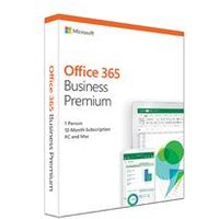 Microsoft Office 365 Business Premium 'in a box ' 1 year subscription/license.