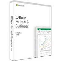 Microsoft Office Home & Business 2019 Box Pack (Medialess, 1 PC, One Time Purchase).