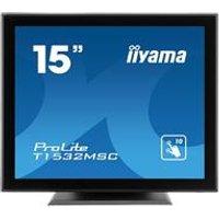 iiyama ProLite T1532MSC-B5AG 15 1024x768 8ms VGA HDMI DisplayPort Touchscreen LED Monitor