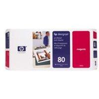 HP 80 Magenta Printhead and Printhead Cleaner.