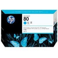HP 80 350-ml Cyan Ink Cartridge.