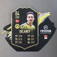 BVB-Delaney Fifa 20 Karte, sign.