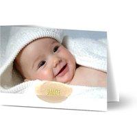 Danksagungskarten Taufe, Dankeskarten Taufe, seidenmattes feinstpapier, standard umschläge, goldfolie gestalten, 2, A6, klappkarte, Optimalprint