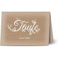 Einladungskarten Taufe, glänzendes feinstpapier, standard umschläge gestalten, Fotokarte (1 Foto), Mädchen, Klassisch, A5, klappkarte, Optimalprint