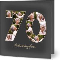 Einladungskarten Geburtstag, glänzendes feinstpapier, standard umschläge gestalten, 10 Fotos (Fotocollage), quadratisch, klappkarte, Optimalprint