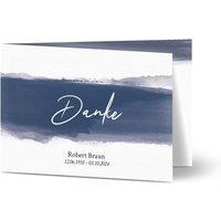 Dankeskarte Trauer Schatten, glänzendes feinstpapier, standard umschläge gestalten, Fotokarte (1 Foto), Beerdigung, A6, klappkarte, Optimalprint