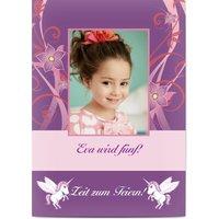 Einladungskarten Geburtstag, glänzendes feinstpapier, standard umschläge gestalten, Fotokarte (1 Foto), Tier, Porträt, A6, flach, Optimalprint