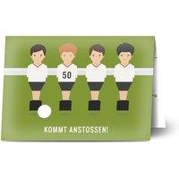 Einladungskarten Geburtstag, glänzendes feinstpapier, standard umschläge gestalten, Fotokarte (1 Foto), 50, Football, A6, klappkarte, Optimalprint