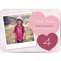 Einladungskarten Geburtstag, glänzendes feinstpapier, standard umschläge, abgerundete ecken gestalten, Fotokarte (1 Foto), A5, flach, Optimalprint
