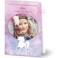 Einladungskarten Geburtstag, glänzendes feinstpapier, standard umschläge gestalten, Fotokarte (1 Foto), Tier, Galaxie, A6, klappkarte, Optimalprint