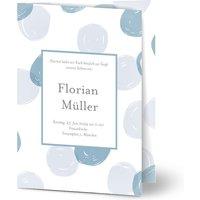 Einladungskarten Taufe, glänzendes feinstpapier, standard umschläge gestalten, Fotokarte (1 Foto), Malerei, A6, klappkarte, Optimalprint