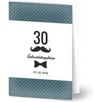 Einladungskarten Geburtstag, glänzendes feinstpapier, standard umschläge gestalten, Fotokarte (1 Foto), 30, bow tie, A6, klappkarte, Optimalprint