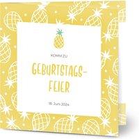 Einladungskarten Geburtstag, glänzendes feinstpapier, standard umschläge gestalten, Fotokarte (1 Foto), quadratisch, klappkarte, Optimalprint