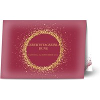Einladungskarten Geburtstag, glänzendes feinstpapier, standard umschläge gestalten, Fotokarte (1 Foto), 30, 40, 50, A5, klappkarte, Optimalprint