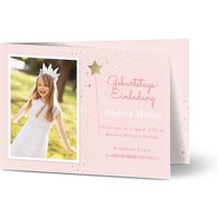 Einladungskarten Geburtstag, glänzendes feinstpapier, standard umschläge gestalten, Fotokarte (1 Foto), Magie, A6, klappkarte, Optimalprint