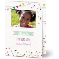 Einladungskarten Geburtstag, glänzendes feinstpapier, standard umschläge gestalten, Fotokarte (1 Foto), Dekoration, A6, klappkarte, Optimalprint