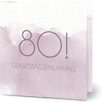 Einladungskarten Geburtstag, glänzendes feinstpapier, standard umschläge gestalten, Fotokarte (1 Foto), 80, quadratisch, klappkarte, Optimalprint