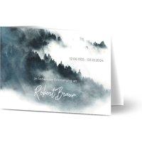 Trauerkarten Danke, glänzendes feinstpapier, standard umschläge gestalten, Fotokarte (1 Foto), abstrakt, Wolke, A6, klappkarte, Optimalprint