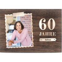 Einladungskarten Geburtstag, glänzendes feinstpapier, standard umschläge gestalten, Fotokarte (1 Foto), 60, Hintergrund, A5, flach, Optimalprint