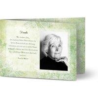 Trauerkarten Danke, glänzendes feinstpapier, standard umschläge gestalten, Fotokarte (1 Foto), grün, Klassisch, A6, klappkarte, Optimalprint