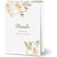 Dankeskarte Trauer schlafende Blume, glänzendes feinstpapier, standard umschläge gestalten, Fotokarte (1 Foto), blumig, A6, klappkarte, Optimalprint