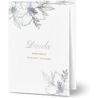 Dankeskarte Trauer schlafende Blume, seidenmattes feinstpapier, standard umschläge, silberfolie gestalten, Fotokarte (1, A6, klappkarte, Optimalprint