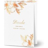 Dankeskarte Trauer schlafende Blume, seidenmattes feinstpapier, standard umschläge, kupferfolie gestalten, Fotokarte (1, A6, klappkarte, Optimalprint