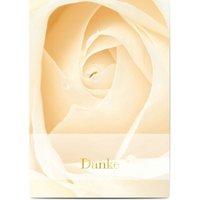 Dankeskarten Taufe, seidenmattes feinstpapier, standard umschläge, goldfolie gestalten, Mädchen, Klassisch, A6, flach, Optimalprint