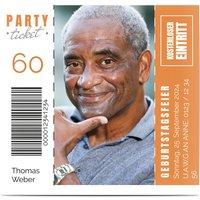 Einladungskarten Geburtstag, glänzendes feinstpapier, standard umschläge gestalten, Fotokarte (1 Foto), 60, Code, quadratisch, flach, Optimalprint