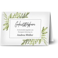 Einladungskarten Geburtstag, glänzendes feinstpapier, standard umschläge gestalten, Fotokarte (1 Foto), 90, foliage, A6, klappkarte, Optimalprint