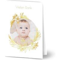 Danksagungskarten Taufe, Dankeskarten Taufe, seidenmattes feinstpapier, standard umschläge, goldfolie gestalten, A5, klappkarte, Optimalprint
