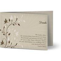 Hochzeitseinladung das Versprechen, glänzendes feinstpapier, standard umschläge gestalten, Muster, braun, Klassisch, A6, klappkarte, Optimalprint
