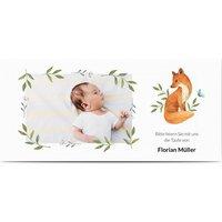 Einladungskarten Taufe, glänzendes feinstpapier, standard umschläge gestalten, Fotokarte (1 Foto), Schmetterling, Panorama DL, flach, Optimalprint