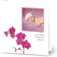 Einladungskarten Taufe, glänzendes feinstpapier, standard umschläge gestalten, Fotokarte (1 Foto), Asien, quadratisch, klappkarte, Optimalprint
