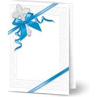 Einladungskarten Taufe, glänzendes feinstpapier, standard umschläge gestalten, Junge, Klassisch, vintage, A6, klappkarte, Optimalprint