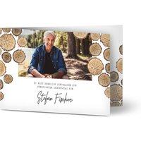 Geburtstags Einladung Jahresringe, glänzendes feinstpapier, standard umschläge gestalten, 2 Fotos, 50, männlich, A6, klappkarte, Optimalprint