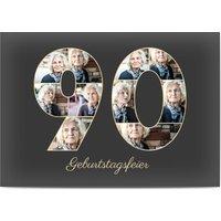 Einladungskarten Geburtstag, glänzendes feinstpapier, standard umschläge gestalten, 10 Fotos (Fotocollage), 90, groß, A6, flach, Optimalprint
