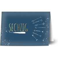 Einladungskarten Geburtstag, seidenmattes feinstpapier, standard umschläge, goldfolie gestalten, Fotokarte (1 Foto), 60, A5, klappkarte, Optimalprint